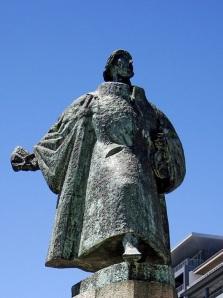 Estátua de Bartolomeu Dias na Cidade do Cabo, África do Sul.